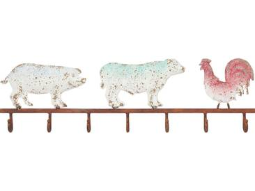 KARE Design Wandgarderobe »Farm Animals«, weiß, Maße (B/T/H): 74/4/21,5 cm, weiß