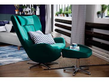 Tom Tailor TOM TAILOR Loungesessel »TOM PURE«, mit Metall-Drehfuß, grün, emerald TSV 3