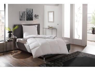 Schlaraffia Daunenbettdecke, »® Daunenbettdecke Luxus«, warm, Füllung: 90% Gänsedaunen, 10% Federn, Bezug: 100% Baumwolle, (1-tlg), weiß