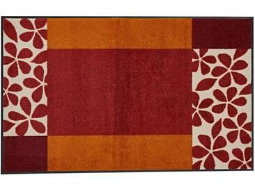 wash+dry by Kleen-Tex wash & dry Fußmatte , waschbar, braun, braun/orange