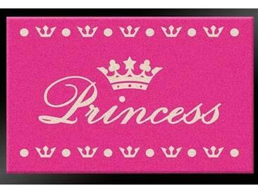 HANSE Home Fußmatte »Princess«, rechteckig, Höhe 6 mm, gummierter Rücken, rosa, 6 mm, rosa