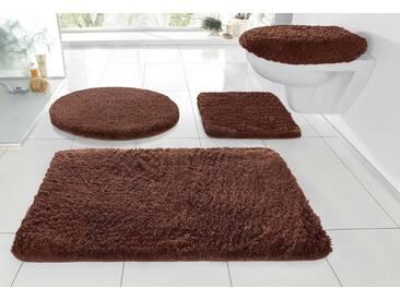 Kleine Wolke Badematte »RELAX« , Höhe 30 mm, rutschhemmend beschichtet, fußbodenheizungsgeeignet, braun, 30 mm, mahagoni