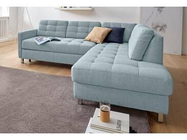 sit&more Ecksofa, blau, 233 cm, Ottomane rechts, aqua