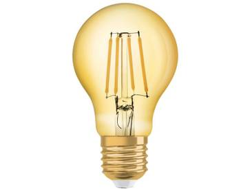 Osram LED-Lampe, Vintage-Edition, Kolbenform »Vintage 1906 LED 55 7 W/825 E27 GOLD«, goldfarben, gold