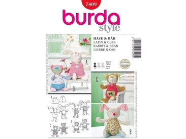 burda style Burda Schnittmuster Kuscheltiere - Hase, Bär Nr. 7409