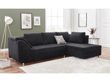 COLLECTION AB Ecksofa, inklusive Bettfunktion und Bettkasten, schwarz, schwarz