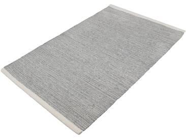Kleine Wolke Badematte »Wien« , Höhe 5 mm, rutschhemmend beschichtet, fußbodenheizungsgeeignet, grau, 5 mm, silberfarben-grau