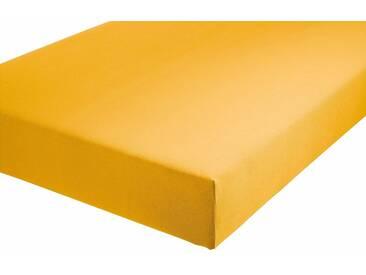Formesse Spannbetttuch, gelb, Jersey, goldgelb