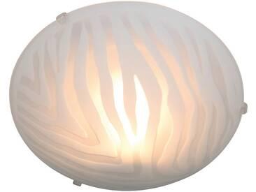näve Deckenleuchte, 1-flammig, weiß, 1 -flg. /, transparent-weiß
