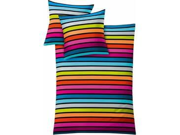 Kleine Wolke Bettwäsche »Rimini«, mit Streifen, bunt, 1x 135x200 cm, Mako-Satin, multi