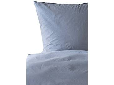 Casa di Bassi Bettwäsche »BASIC SOFT TOUCH breit«, Pre-Washed Effekt, blau, 1x 155x220 cm, Baumwolle, indigo