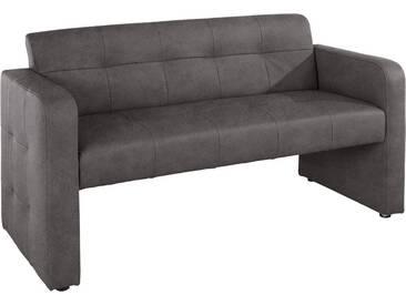 exxpo - sofa fashion Bank mit Rückenlehne, Breite 162 cm, 2er-Set, grau, 2er Sofa, elephant