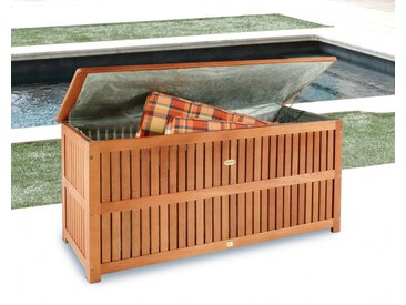 Garden Pleasure Auflagenbox , 130x58x55 cm, Eukalyptusholz, braun, braun, braun