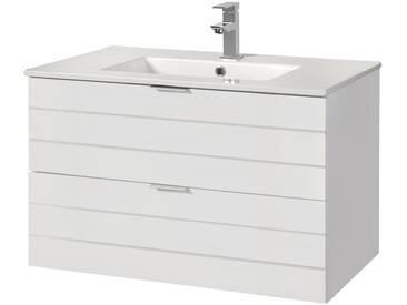 Waschtisch »Luzern«, Waschplatz, 80 cm breit, Bad-Set 2-tlg., weiß, weiß