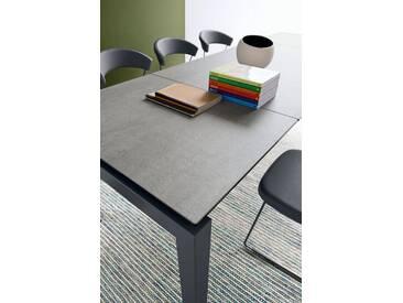 connubia by calligaris Tisch mit Tischplatte aus Keramik »Airport CB/4011«, grau, Metall grau matt, Keramik zement