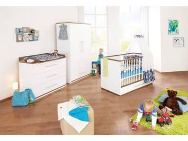 Pinolino® Pinolino Babyzimmer-Set (3-tlg.), Kinderzimmer, »Tuula breit«, nussbaum
