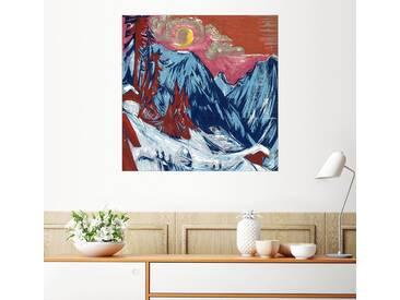 Posterlounge Wandbild - Ernst Ludwig Kirchner »Wintermondnacht«, bunt, Poster, 70 x 70 cm, bunt