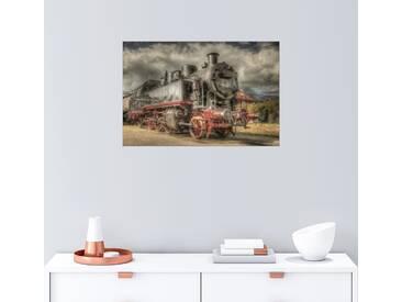 Posterlounge Wandbild - Manfred Hartmann »dampflok«, bunt, Holzbild, 30 x 20 cm, bunt