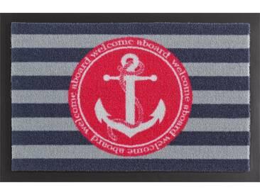 HANSE Home Fußmatte »Anker«, rechteckig, Höhe 7 mm, rutschhemmend beschichtet, blau, 7 mm, blau-pink