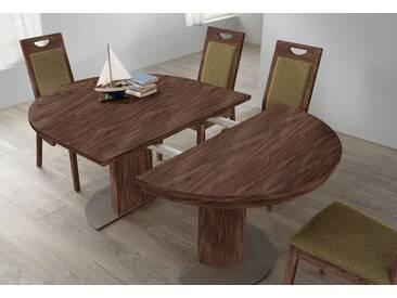 VENJAKOB Säulen-Kulissentisch mit Auszugsfunktion »my home«, runde Tischplatte, Ø 120 cm, braun, Nussbaum
