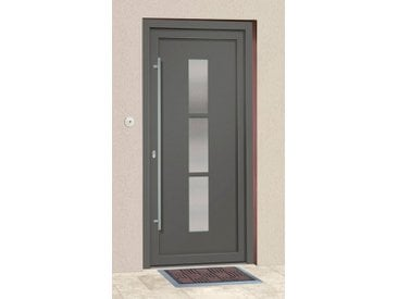 RORO Türen & Fenster Roro Aluminium-Haustür »Neuseeland«, grau, links, anthrazit
