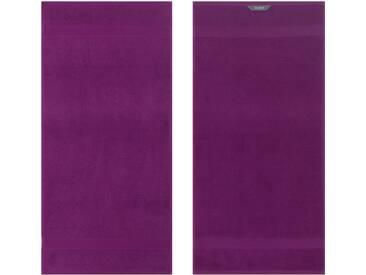 Egeria Handtücher »Diamant«, in Uni gehalten, lila, Frotteevelours, lila