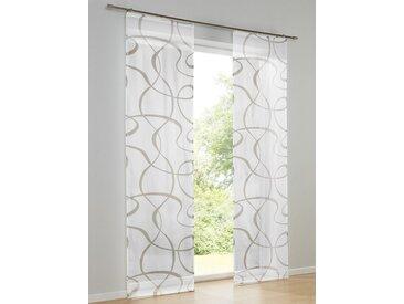 heine home Schiebevorhang bedruckt, weiß, mit Klettband, weiß/taupe