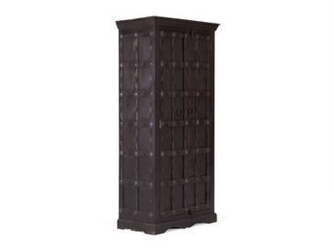 massivum Kleiderschrank aus Akazie massiv »Notthingham«, braun, 82x184x46cm, braun