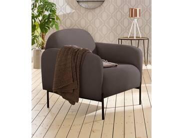 andas Sessel »Bold«, edles, skandinavisches Design, mit Stahlbeinen, braun, braun