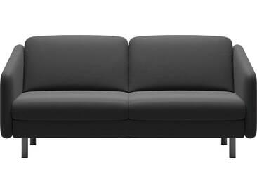 Stressless® 2,5-Sitzer »Eve« mit geraden Edelstahlfüßen in 2 Höhen, grau, Stahlfuß rund, Höhe 14 cm, rock PALOMA
