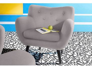 INOSIGN Sessel im Retro-Style, grau, hellgrau