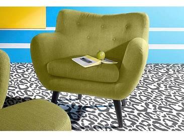 INOSIGN Sessel im Retro-Style, grün, grün