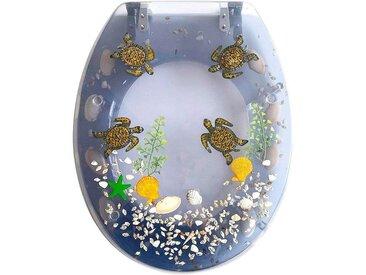 ADOB WC-Sitz »Schildkröten«, blau, transparent/blau