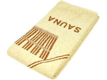 Lashuma Saunatuch »Stockholm«, ein Wellness Handtuch für Genießer!, goldfarben, beige