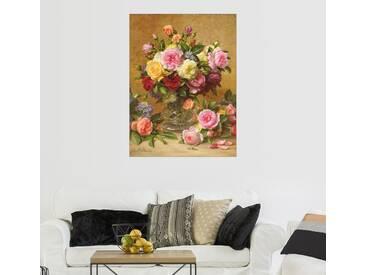 Posterlounge Wandbild - Albert Williams »Viktorianische Rosen«, bunt, Holzbild, 120 x 160 cm, bunt