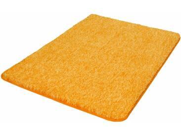 Kleine Wolke Badematte »Seattle« , Höhe 25 mm, rutschhemmend beschichtet, fußbodenheizungsgeeignet, gelb, 25 mm, safran