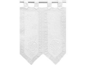 HOSSNER - ART OF HOME DECO Querbehang »Cima Dodici«, Schlaufen (1 Stück), weiß, halbtransparent, Schlaufen, weiß