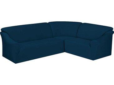 Dohle&Menk Sofahusse »Susi«, samtige Microfaserware, blau, Mischgewebe, dunkelblau
