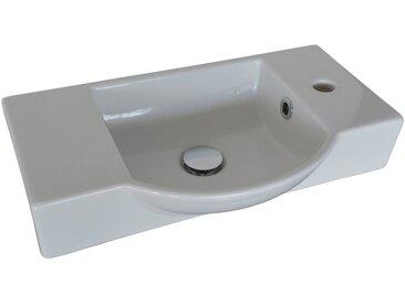 FACKELMANN Waschbecken »Gäste-WC«, Breite 54,5 cm, für Gäste-WC, Keramik, weiß, weiß