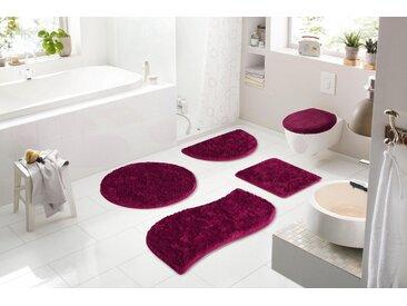 my home Badematte »Merida« , Höhe 32 mm, fußbodenheizungsgeeignet, rosa, 32 mm, fuchsia