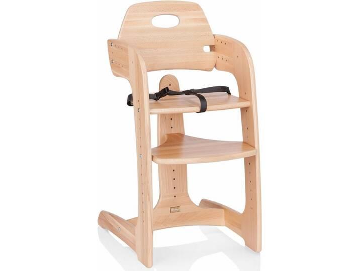Herlag ® Hochstuhl aus Holz, mit verstellb. Rückenlehne, »Tipp Topp Comfort IV, Buche massiv natur«, natur, natur Beige