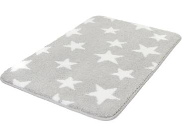 MEUSCH Badematte »Stars« , Höhe 15 mm, rutschhemmend beschichtet, fußbodenheizungsgeeignet, grau, 15 mm, nebel