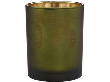 BUTLERS X-MAS »Teelichthalter Zweig Höhe 10 cm«, Ø 7,5 cm, Höhe 10 cm