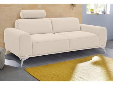 Guido Maria Kretschmer Home&Living GMK Home & Living 2-Sitzer Sofa »Tea«, mit Kopfstütze, natur, beige