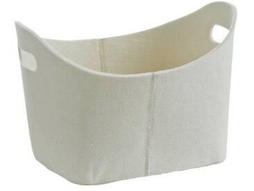 Zeller Present Zeller Filzkorb , oval, weiß, weiß