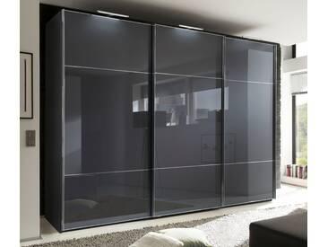nolte® Möbel Schwebetürenschrank »Marcato 3« mit Fronten aus Weißglas, grau, Korpus Graphit, Front Graphitglas