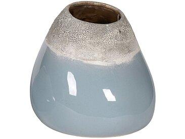 Keramikvase in 2 Ausführungen, (B/T/H): 18 x 22 x 24 cm, taubenblau, grau