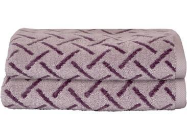 Dyckhoff Handtücher »Stripes«, mit Muster und Bordüre versehen, lila, Jaquard-Velours, flieder
