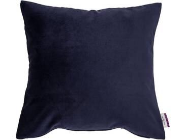 Tom Tailor Kissenhülle »Velvet Linen Pad«, blau, Mischgewebe, nachtblau