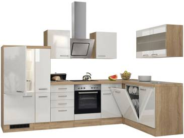 Flex-Well RESPEKTA Küchenzeile mit E-Geräten »Winkel- Florenz, Breite 310 x 170 cm«, weiß, mit Aufbauservice, weiß